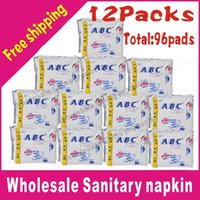 Cheap Hot sel! Free shipping ABC K11 day use Sanitary napkin, Sanitary towels, Sanitary pads Panty liners 12packages lot total 96pads