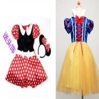 Cheap Girls Minnie Mouse dress girls dress Snow White Princess Dress Party Christmas Costume Ballet Dress 2-10Y Kids free shipping
