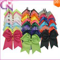 baby cheerleader - quot Girls Cheerleading Hair Bows Baby Rhinestone Ponytail Cheer Bow Children Ribbon Cheerleader Hairbow