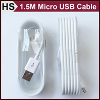 android data transfer - 1 M Extended Micro USB Cable For Android Phone Samsung HTC Sony LG ft High Speed Data Transfer Power Charging Cord White DHL