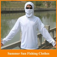 Wholesale HOT New summer sun fishing clothes male long sleeve breathable anti uv sun fishing clothing suit M LXL XXL XXXL