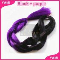 Wholesale 6PCS Braiding Hair Ultra Braid folded length inch Synthetic Braiding Hair Bulk Hair For Braiding