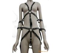 bondage wear - PU Leather Body Harness Sex Bondage Straps Tied Hand Bundled Fetish Restraint Bondage Wear Slave Toys