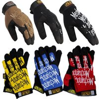 mens sports gloves - Warm Mens Mechanix Gloves Outdoor Winter Gloves six Colors Sport Gloves four Sizes Microfibre Fabric Solid Color Letter Print