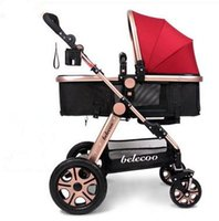 baby travel systems - New Travel System Baby Stroller European Baby Prams Folding Light Weight Carriage Cart Portable Popular Brand Stroller Children