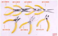 Wholesale 5 inches mini pliers nipper pliers wire cutter diagonal pliers flat bit tongs round nose pliers Needle nose pliers