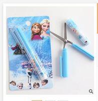 Wholesale Newest Despicable Me Creative Scissors Frozen Elsa Cartoon Interesting Novel Shape Pen Portable Mini Scissors R386