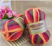 Wholesale space dye wool sweater knitwear thick hand knitting yarn g balls per bag and mm needle