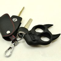 Wholesale Self Defense Tiger Head Novelty Keychain Defend Key Chain Chaveiro Key Ring Holder