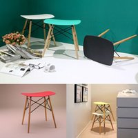 bar chair - Eames stool Wood Plastic chair wood dining chair living room furniture Wait stool bar stool dining chair