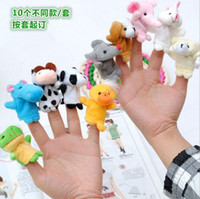 Wholesale 2015 finger toys Parent child game props Teaching props Animal Finger Puppets styles animal of finger toys