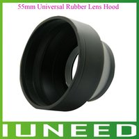 Wholesale 01G161b High Quality mm Universal Rubber Lens Hood for Wide Tele Focus Standard quality first