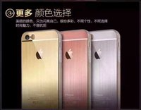 apple slap - For Samsung Iphone Plus s s slap up Brushed Metal Phone Shell Mobile Phone Sets Protective Case Cell Phone Case Creative Case