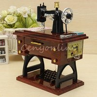 Wholesale Best Promotion New Vintage Mini Sewing Machine Style Mechanical Music Box Gift Birthday gift Sartorius Model Musical Toy
