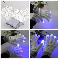 amazing ski - Amazing hot Mens Womens lighting glove Unisex Flash Light Up Ski Night Gloves led finger light gloves