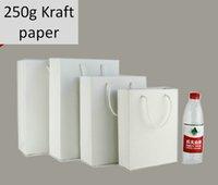 paper box - Freeshipping Big Paper Shopping bag g Pure Wood Pulp Kraft Paper Bag White Thick Paper Gift Bag Gift Box for Shops Stores Shopping Center