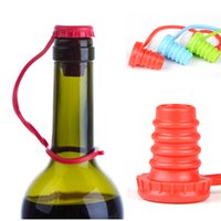 beer types - 2015 new Soft silicone bottle Cap stopper plug Anti lost hanging buckle type seasoning beer red wine bottle caps plugs
