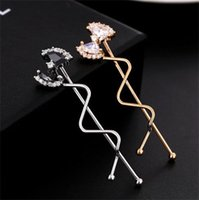 Cheap Classic Bowknot Hairpin Crystal Hair Clips Curving Hair Clasp Women Hair Accessories Chinese Hair Jewelry Wholesale A898