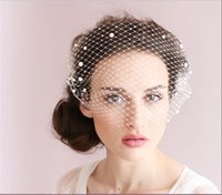 adorn fashion - New Arrive Bridal Veils Cheap Modest No Profit Beads White Pearl Adorned Bandeau Birdcage Veil With Comb Fashion Wedding Veils Sexy