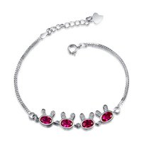 Wholesale Fine Jewelry AAA Cubic Zriconia Fashion Silver Heart Bracelet Guaranteed Solid Sterling Silver Bracelet YH4273