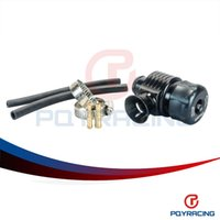 Wholesale PQY STORE Black Auto racing turbo aluminum blow off valve with horn outside PQY5743BK