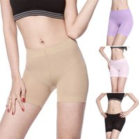 Cheap Wholesale-Fashion 2015 Hot 4 Color Women Short Pants Sport Safety Underwear Belly Dance Tight Leggings Safety Pants basic pant