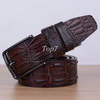 alligator skin belt - Belt Fashion designer luxury brand crocodile skin men belt Genuine Leather alligator belts men s cinto waisntband