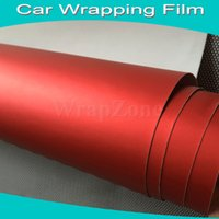 Wholesale High Quality Red Matte Chrome Vinyl Chrome Vinyl Wrap For Car Stickers Fedex Size x20m Roll