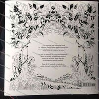 Wholesale Enchanted Forest Pages English Edition Coloring Book For Children Adult Relieve Stress Kill Time Graffiti Painting Drawing Book