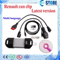 Wholesale 2014 Favourable Price V143 Can Clip Renault diagnostic tool Vehicle Diagnostic Too with Multi Languagel FREE DHL wu