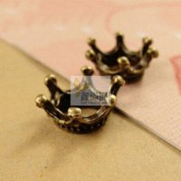 antique printer - pieces antique bronze plated vintage style metal zinc alloy crown charm jewelry hd2622 jewelry printer
