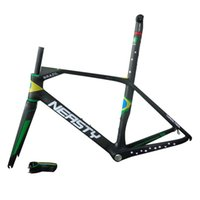Wholesale XS S M L XL Carbon Road Bicycle Frame Fork Stem Seat Post BB30 and BSA BB68 Bottom Bracket