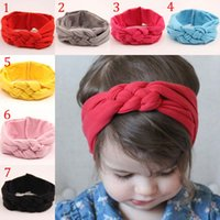 baby forced - Children Hair band new lovely baby Elastic force cotton knot head Hair Accessories color B001