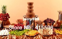 Wholesale 86 CM S S304 Commercial Chocolate Fountain For Rent Use Metal Box Packing