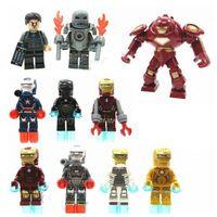 Wholesale Super Heroes Iron Man Building Block Styles Avengers Assemble Minifigure Building Block DIY Bricks Building Toys