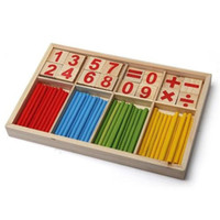 Wholesale 2015 New Baby Children Wooden Counting Math Game Mathematics Toys Kids Preschool Education Intelligence Stick Figures Box