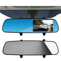 Wholesale Full HD P quot Car Rearview Mirrors Tachograph DVR Digital Car Camera Drop Shipping