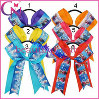 Wholesale children elastic head Frozen kids accessories fashion baby girls elastic band hair band bow and ring style