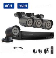 Wholesale 8CH H CCTV System Waterproof Video Recorder TVL Home Security Camera Surveillance Kits