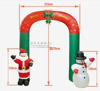 archway decorations - Hot sell Christmas decorations scene layout christmas gifts cm air inflation archway