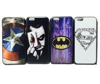 america patterns - New arrival cute cartoon Superman Batman Captain America clown pattern Cover case for iphone inch Phone cases