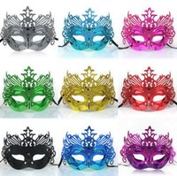 gold dust - Classic Light Plating Gold Dust Crown Man Party Masks Colors Big Boys Costume Ball Dance Masks High Quality Male Masks L1530