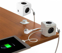 Wholesale Allocacoc Extended Smart Home PowerCube Socket EU DE Plug Outlets USB Ports Adapter with m Cable Power Strip