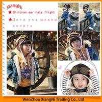 Wholesale 2015 New Design Winter Baby Earflap Pilot Cap Children Hats Flight Caps Unisex Warm Ear Protect Muff Hat Panda order lt no tra
