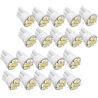 Wholesale 20PCS Ultra Bright White T10 SMD LED Car T10 W5W Wedge Side Car Styling Parking Light Bulb Lamp Automobiles