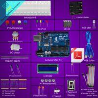 arduino seven segment - Arduino UNO R3 Starter Kit for Arduino Compatible LCD1602 Breadboad DC Motor LED Seven Segment LED RGB LED
