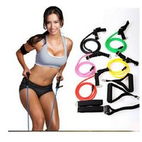 Wholesale 2015 NEW Fitness Resistance Bands Resistance Rope Exercise Tubes Elastic Exercise Bands for Yoga Pilates workout