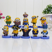 Wholesale 100sets minions headquarter Pirate Stuart Asian Minion Vive Le Gone Batty Deluxe model toy action figure
