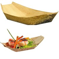 bamboo plates disposable - quot Disposable bamboo boat Shape Dishes Plates bowl wooden wood tableware japanese sushi
