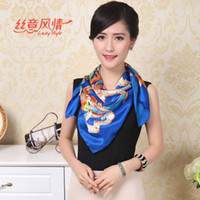 Wholesale New Spring and Summer Scarves Printed Silk Scarf Woman Scarf cm Styles